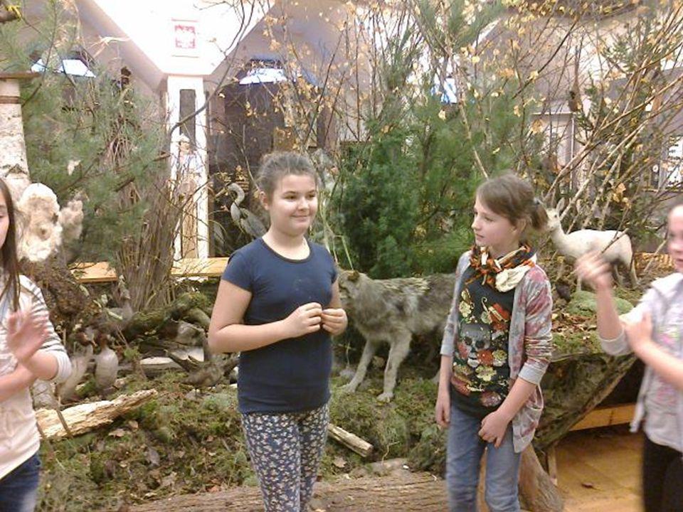 Przyjaciółmi lasu są moje koleżanki z grupy teatralnej Dwie Maski Razem z koleżankami zwiedziłyśmy wystawę w Nadleśnictwie Tuszyma, po której oprowadził nas pan leśniczy.