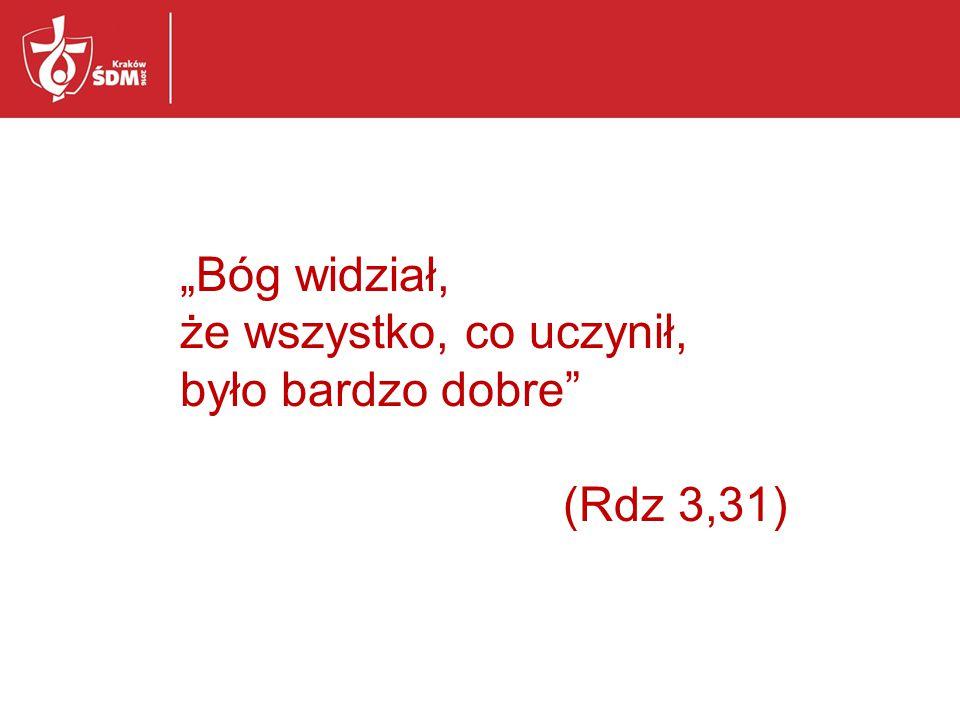 """""""Bóg widział, że wszystko, co uczynił, było bardzo dobre (Rdz 3,31)"""
