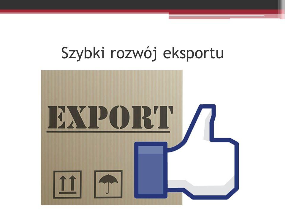 Szybki rozwój eksportu