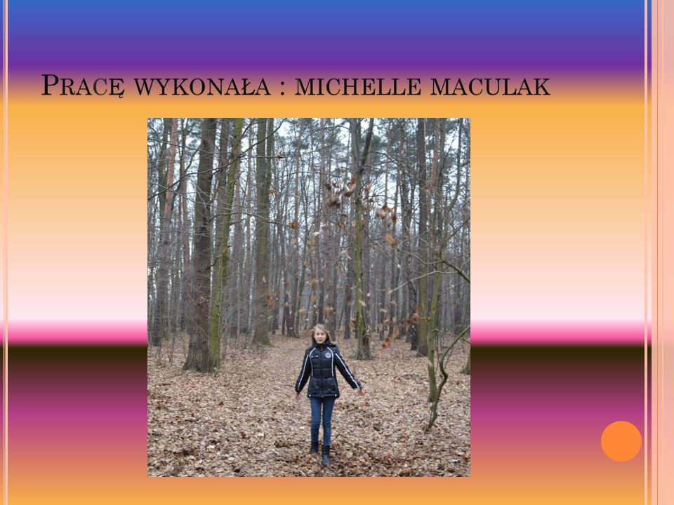 P RAC Ę WYKONA Ł A : MICHELLE MACULAK