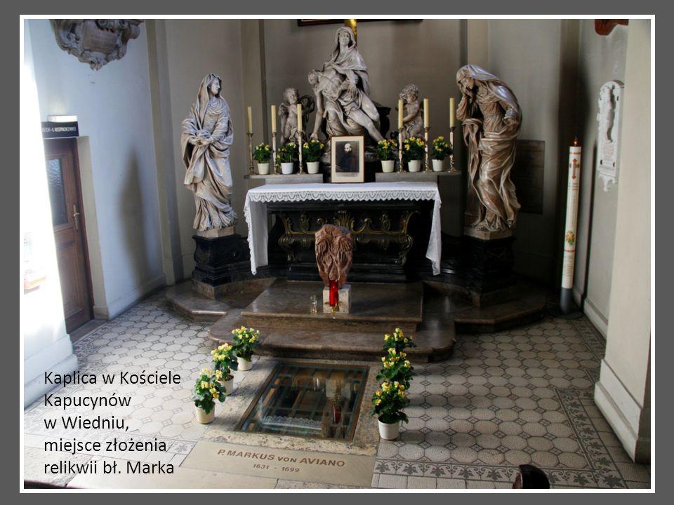 Kaplica w Kościele Kapucynów w Wiedniu, miejsce złożenia relikwii bł. Marka