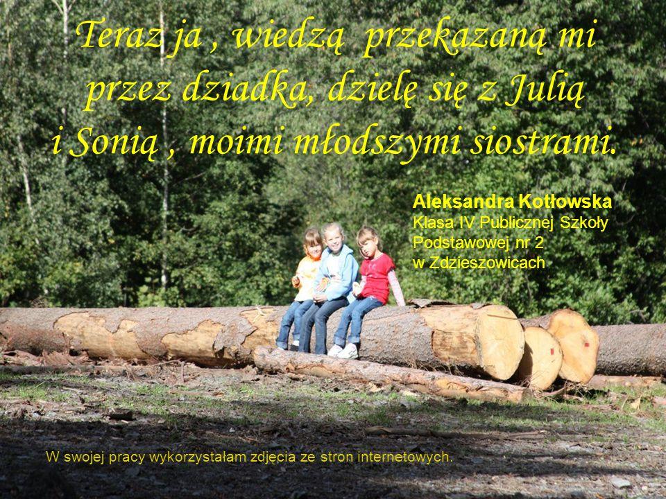 Dzięki dziadkowi wiem, że praca leśnika… …polega przede wszystkim na chronieniu lasu. Leśniczy stara się, żeby las przetrwał jak najdłużej tak, aby na