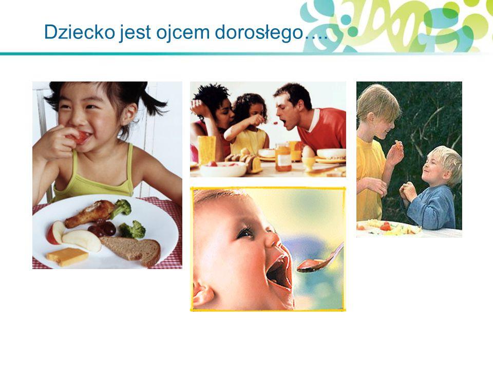 Zalecenia żywieniowe dla dzieci > 2 roku życia Kaloryczność diety – dostosowana do potrzeb i wieku Nie przekarmiać dziecka, stosować się do zalecanych wielkości porcji Źródło białka w każdym posiłku zwierzęce – chude mięso i wędliny, drób bez skóry białko roślinne – strączkowe, zboża i warzywa Warzywa i owoce, zarówno świeże jak i gotowane - codziennie w każdym posiłku .