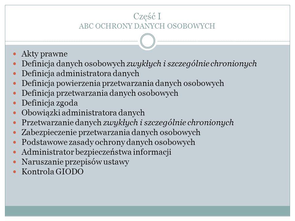 """Dodatkowe informacje Na stronie internetowej GIODO można znaleźć odpowiedzi na podstawowe zagadnienia dotyczące przepisów o ochronie danych osobowych pod następującymi adresami: """"Porady i wskazówki (http://www.giodo.gov.pl/163/) oraz """"Odpowiedzi na pytania (http://www.giodo.gov.pl/266/j/pl/)."""