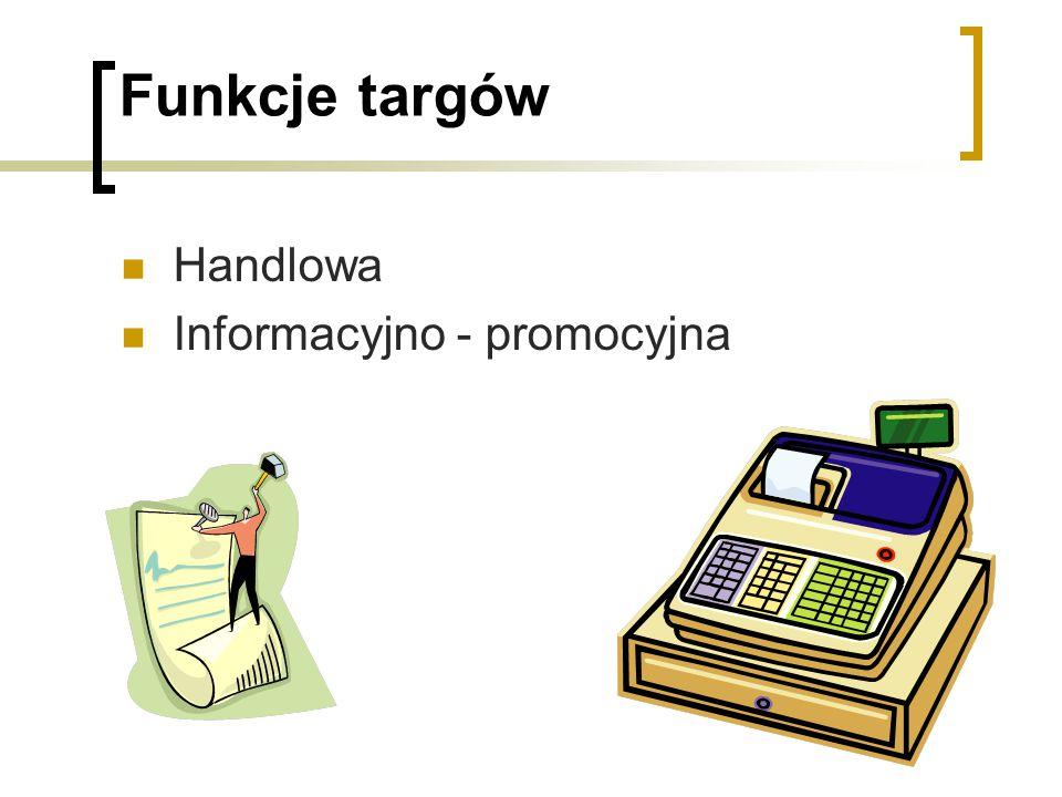 Funkcje targów Handlowa Informacyjno - promocyjna