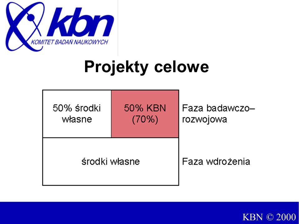 Projekty celowe KBN © 2000