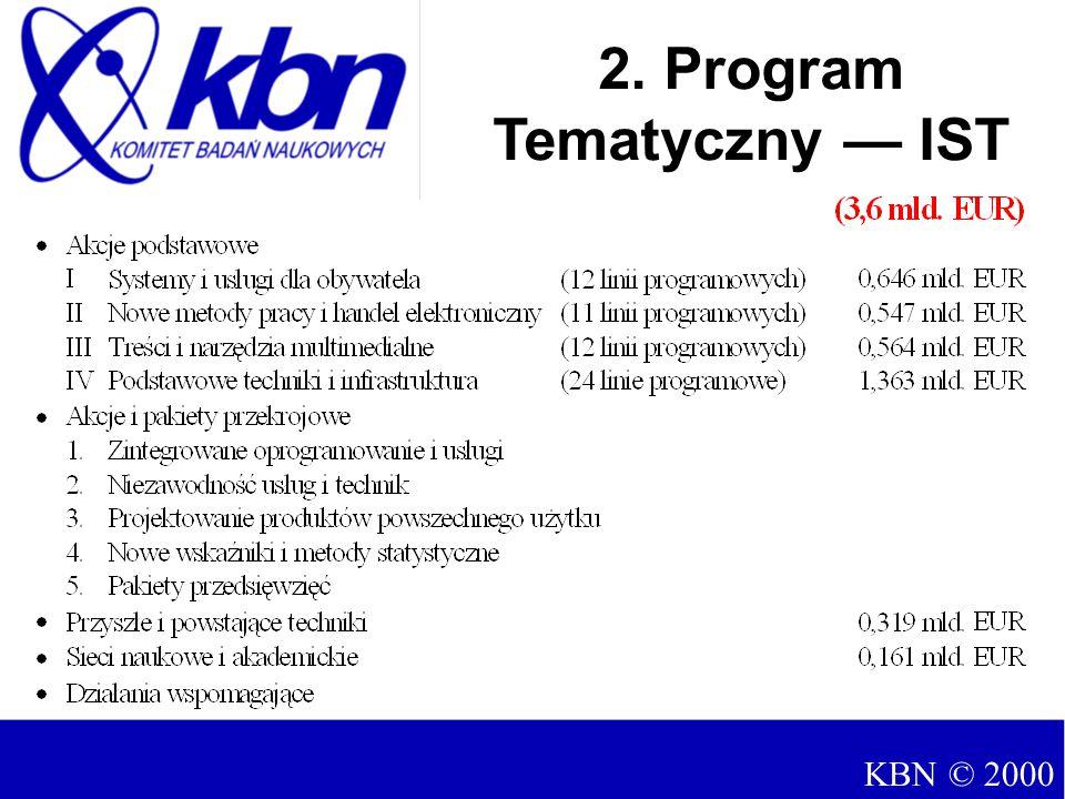 2. Program Tematyczny — IST KBN © 2000