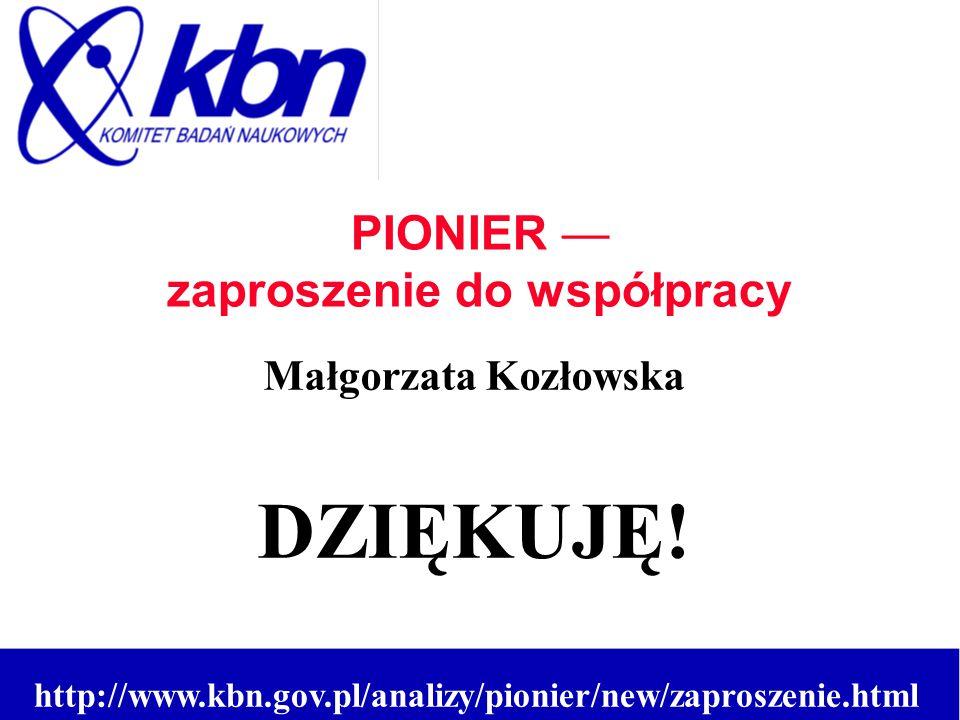 Małgorzata Kozłowska DZIĘKUJĘ.