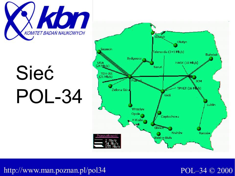 POL–34 © 2000 http://www.man.poznan.pl/pol34 Sieć POL-34