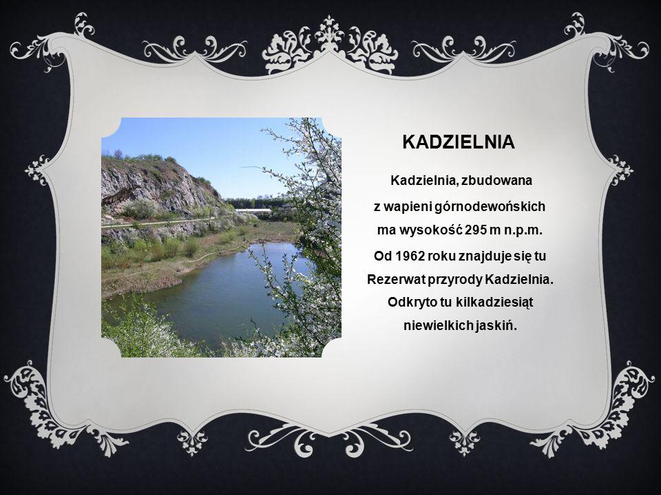 KADZIELNIA Kadzielnia, zbudowana z wapieni górnodewońskich ma wysokość 295 m n.p.m.