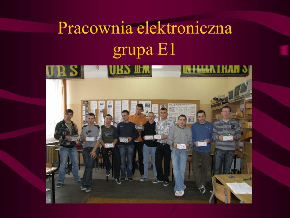 Pracownia elektroniczna grupa E1