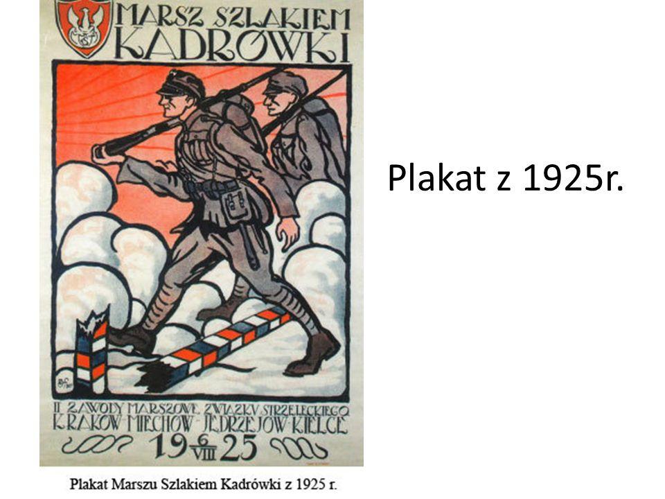 Plakat z 1925r.
