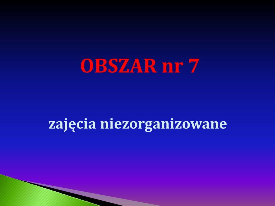 OBSZAR nr 7 zajęcia niezorganizowane