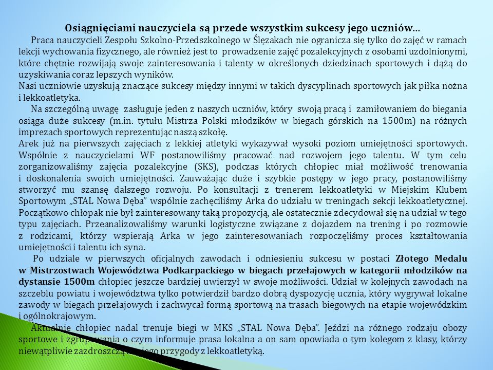 KONIEC Opracował: Marek Mrzygłód – nauczyciel wychowania fizycznego
