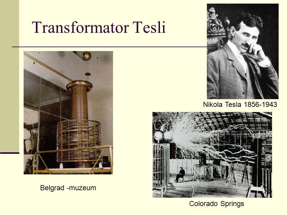 Transformator Tesli Nikola Tesla 1856-1943 Belgrad -muzeum Colorado Springs