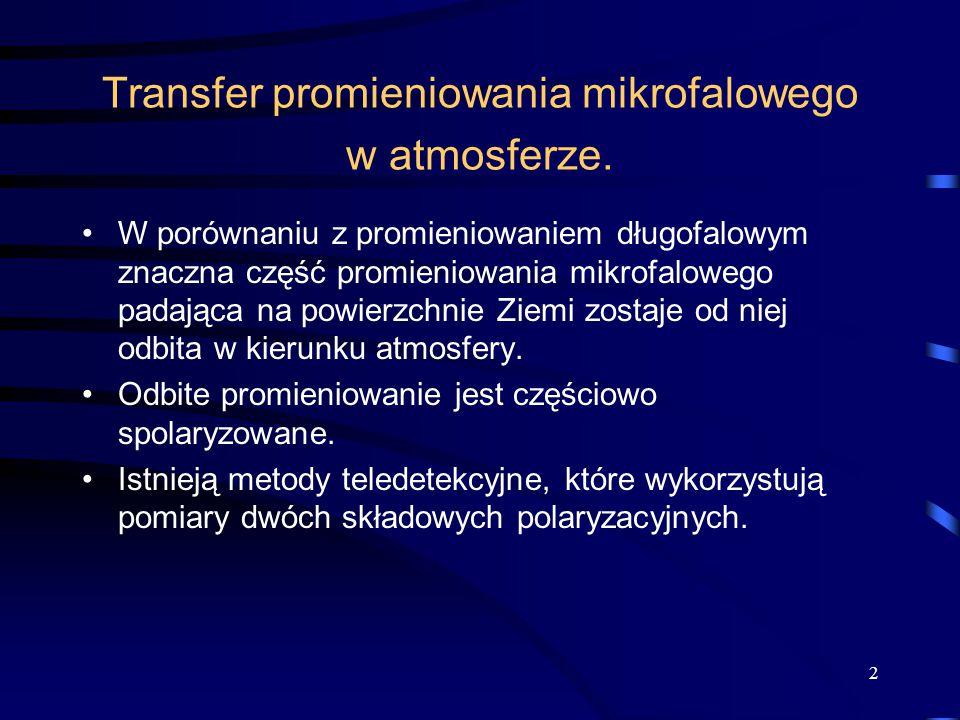 2 Transfer promieniowania mikrofalowego w atmosferze.