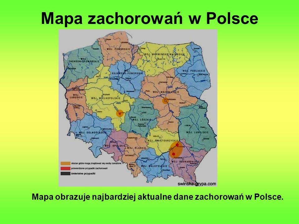 Mapa zachorowań w Polsce Mapa obrazuje najbardziej aktualne dane zachorowań w Polsce.