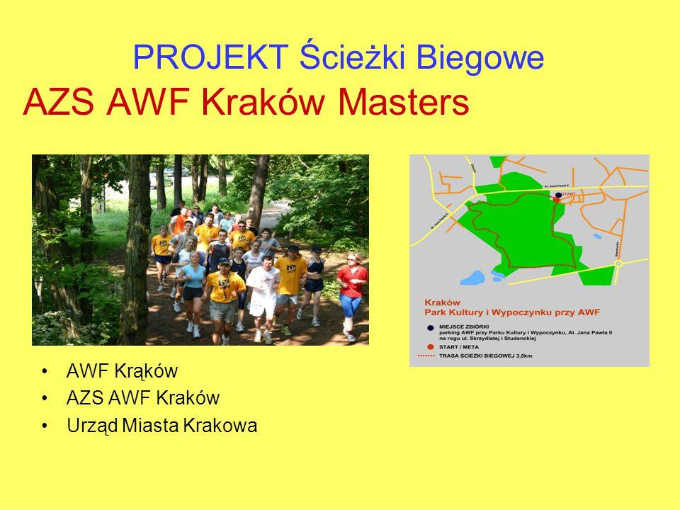 PROJEKT Ścieżki Biegowe AZS AWF Kraków Masters AWF Krąków AZS AWF Kraków Urząd Miasta Krakowa