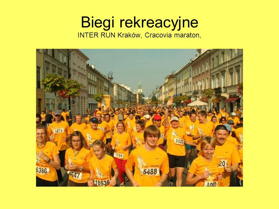 Biegi rekreacyjne INTER RUN Kraków, Cracovia maraton,