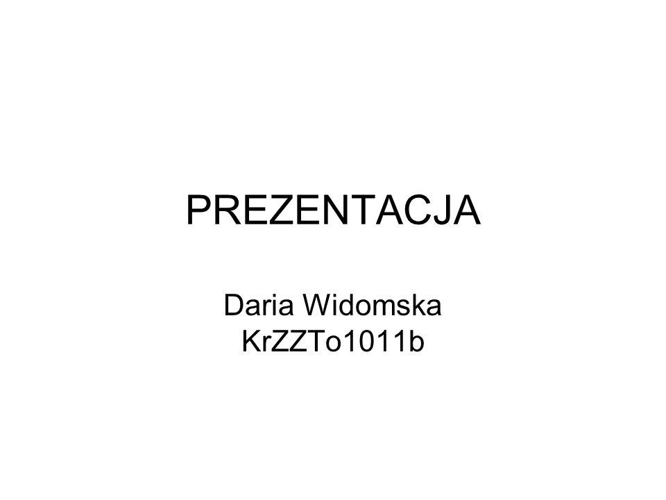 Ćwiczenie 2 - Życiorys Nazywam się Daria Widomska urodziłam się w Krakowie 10 maja 1994 roku i mam 20 lat.