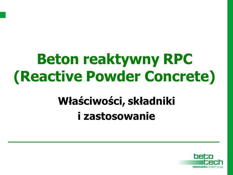 Beton reaktywny RPC (Reactive Powder Concrete) Właściwości, składniki i zastosowanie