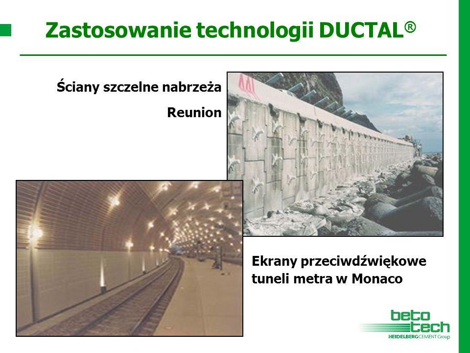 Ekrany przeciwdźwiękowe tuneli metra w Monaco Ściany szczelne nabrzeża Reunion