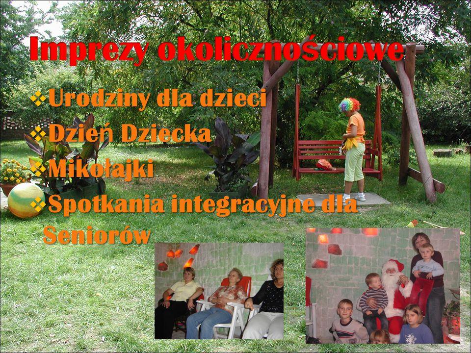  Urodziny dla dzieci  Dzie ń Dziecka  Miko ł ajki  Spotkania integracyjne dla Seniorów