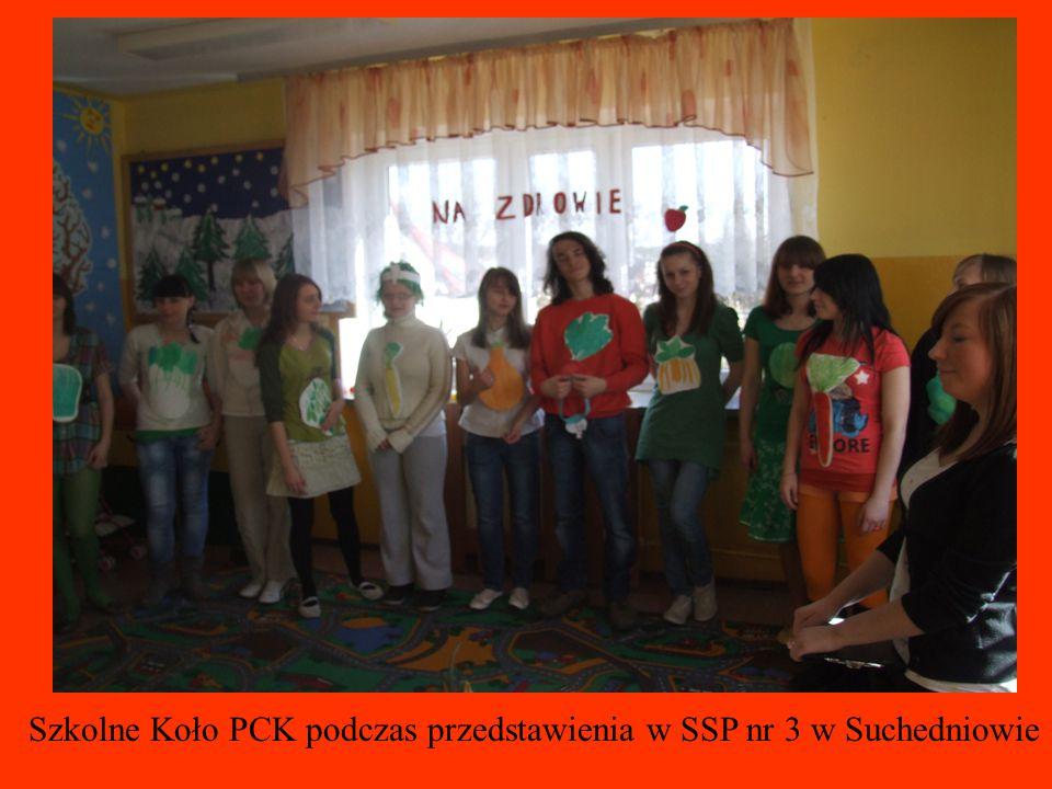 Szkolne Koło PCK podczas przedstawienia w SSP nr 3 w Suchedniowie