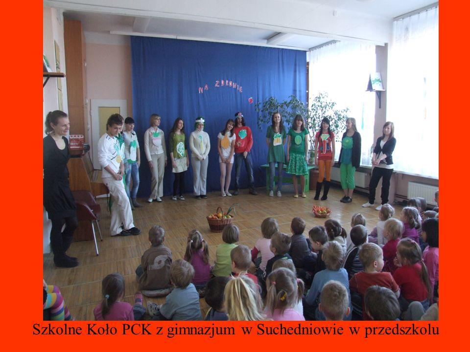Szkolne Koło PCK z gimnazjum w Suchedniowie w przedszkolu