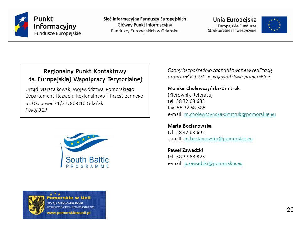 20 Regionalny Punkt Kontaktowy ds.
