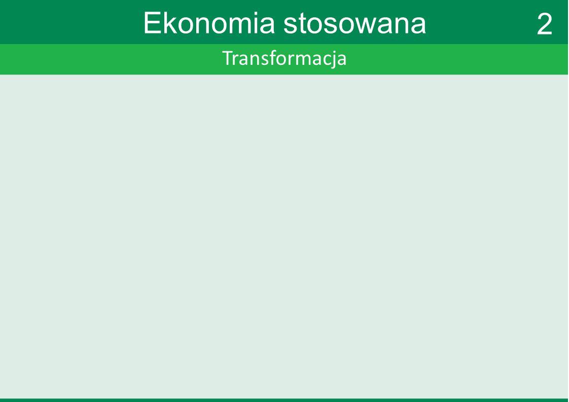 Transformacja Ekonomia stosowana Plan Balcerowicza Terapia szokowa uwolnienie cen wymienialność złotego (sztywny kurs) walka z inflacją konkurencja prywatyzacja 2