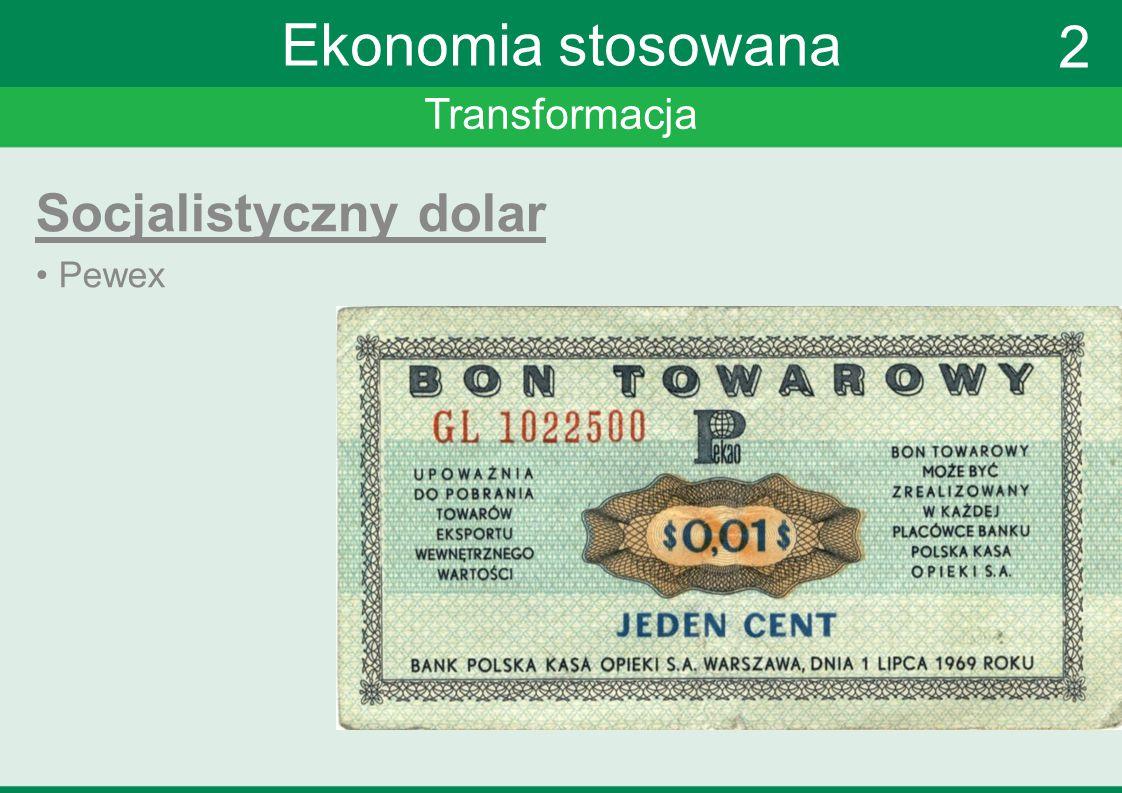 Transformacja Ekonomia stosowana Socjalistyczny dolar Pewex 2