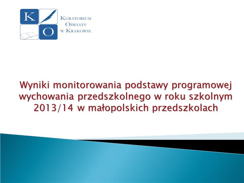 Wyniki monitorowania podstawy programowej wychowania przedszkolnego w roku szkolnym 2013/14 w małopolskich przedszkolach