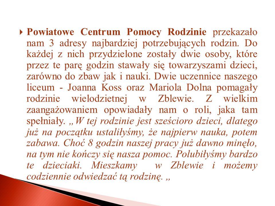 """ """"Caritas przy parafii św.Wojciecha działa w naszym mieście już od lat."""