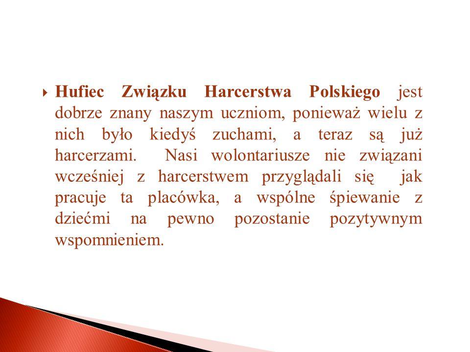  Hufiec Związku Harcerstwa Polskiego jest dobrze znany naszym uczniom, ponieważ wielu z nich było kiedyś zuchami, a teraz są już harcerzami.