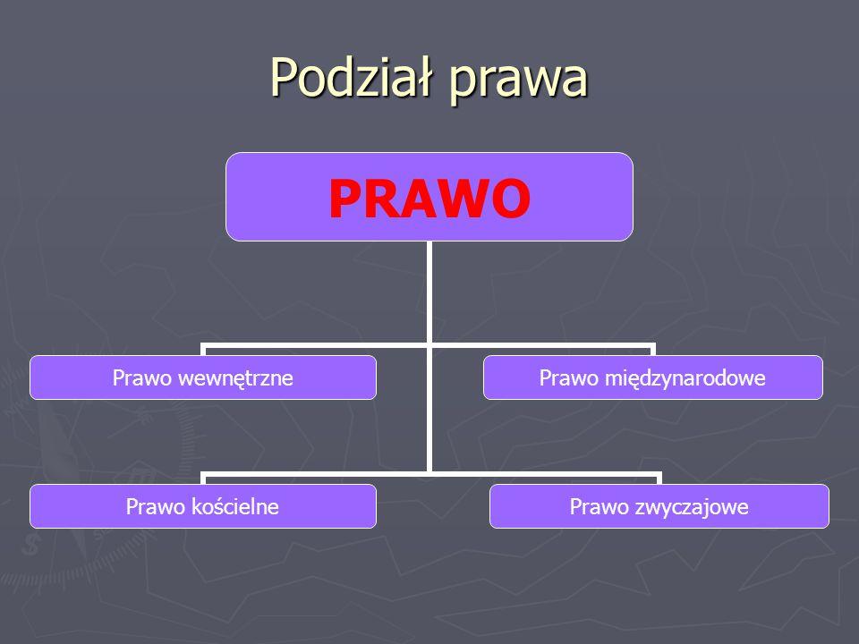 Gałęzie prawa wewnętrznego PRAWO WEWNĘTRZNE Prawo konstytucyjne Prawo cywilnePrawo karnePrawo pracy Prawo międzynarodowe prywatne Prawo finansowe Prawo rodzinne i opiekuńcze Prawo administracyjne