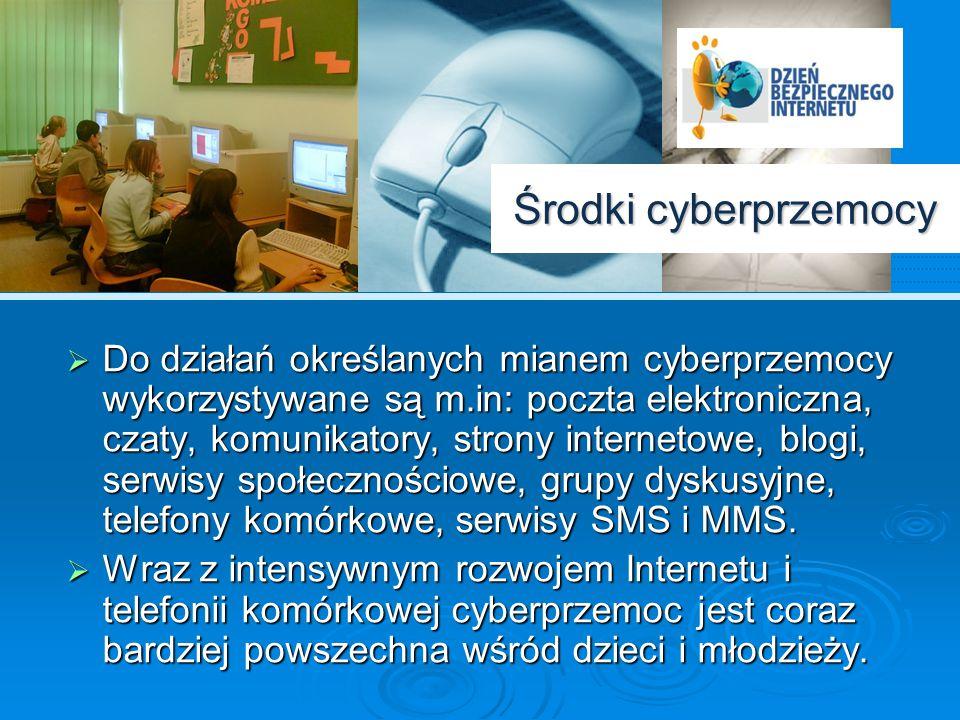 """Cyberprzemoc a """"tradycyjna przemoc rówieśnicza Cyberprzemoc, w odróżnieniu od """"tradycyjnej przemocy (ang bullying), charakteryzuje wysoki poziom anonimowości sprawcy."""