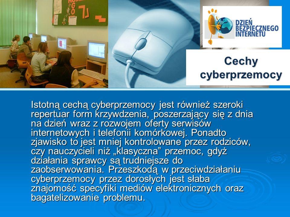 """Skala problemu – badania W styczniu 2007 roku w ramach kampanii """"Dziecko w Sieci przeprowadzone zostały pierwsze w Polsce badania poświęcone problemowi cyberbullyingu*, miały one na celu ustalenie skali i specyfiki problemu wśród dzieci i młodzieży w Polsce."""