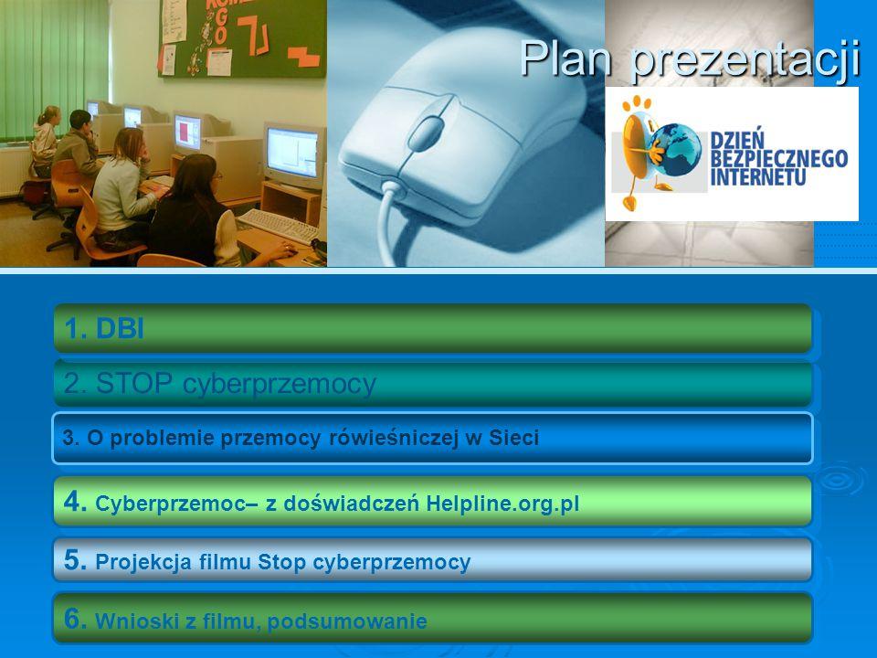 DBI Dzień Bezpiecznego Internetu (DBI) obchodzony jest z inicjatywy Komisji Europejskiej od 2004 roku i ma na celu inicjowanie i propagowanie działań na rzecz bezpiecznego dostępu dzieci i młodzieży do zasobów internetowych.