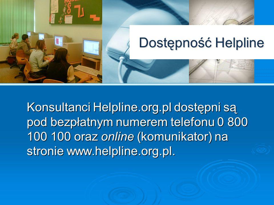 Przypadki zgłoszeń Doświadczenia Helpline.org.pl potwierdzają wysoką skalę problemu cyberprzemocy w Polsce.