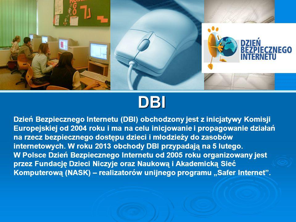 Główną ideą narodowych obchodów DBI jest inicjowanie lokalnych działań, w ramach których dzieci, młodzież i nauczyciele aktywnie angażują się w prace nad projektami poświęconymi bezpieczeństwu w Sieci.