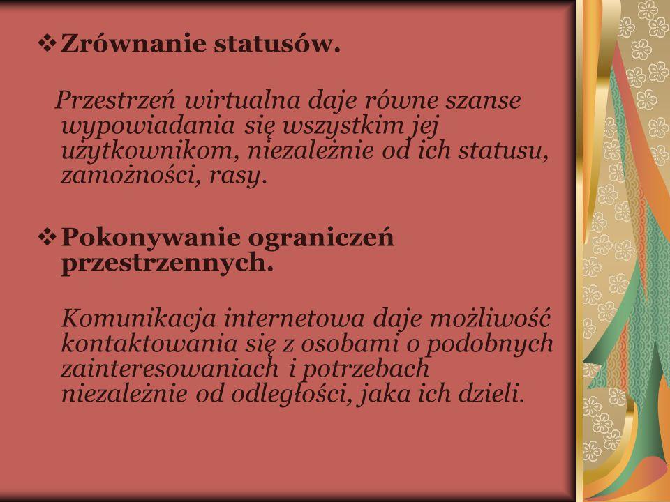  Zrównanie statusów.