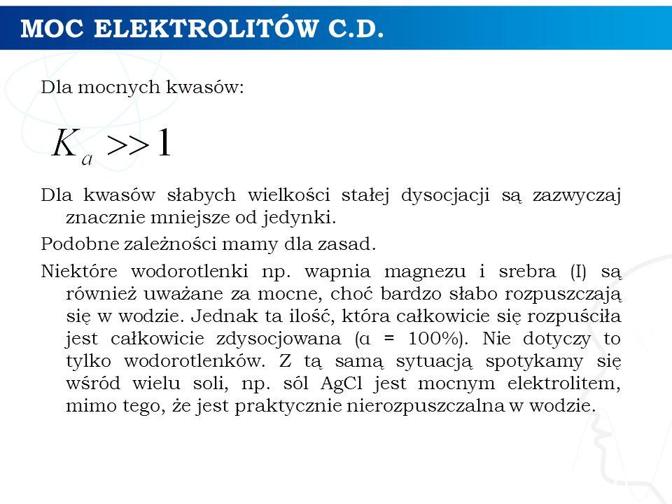 MOC ELEKTROLITÓW C.D.