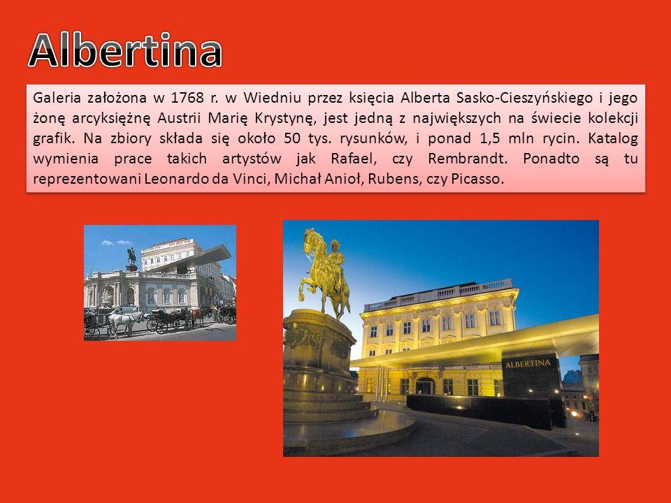 Galeria założona w 1768 r. w Wiedniu przez księcia Alberta Sasko-Cieszyńskiego i jego żonę arcyksiężnę Austrii Marię Krystynę, jest jedną z największy