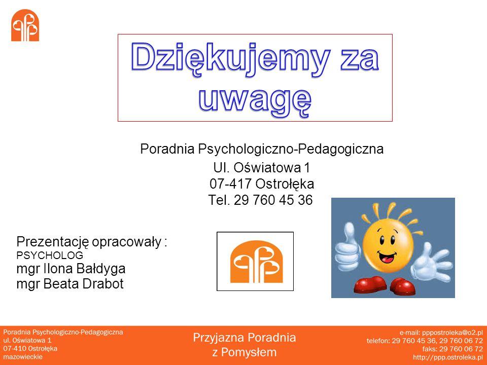 Poradnia Psychologiczno-Pedagogiczna Ul.Oświatowa 1 07-417 Ostrołęka Tel.