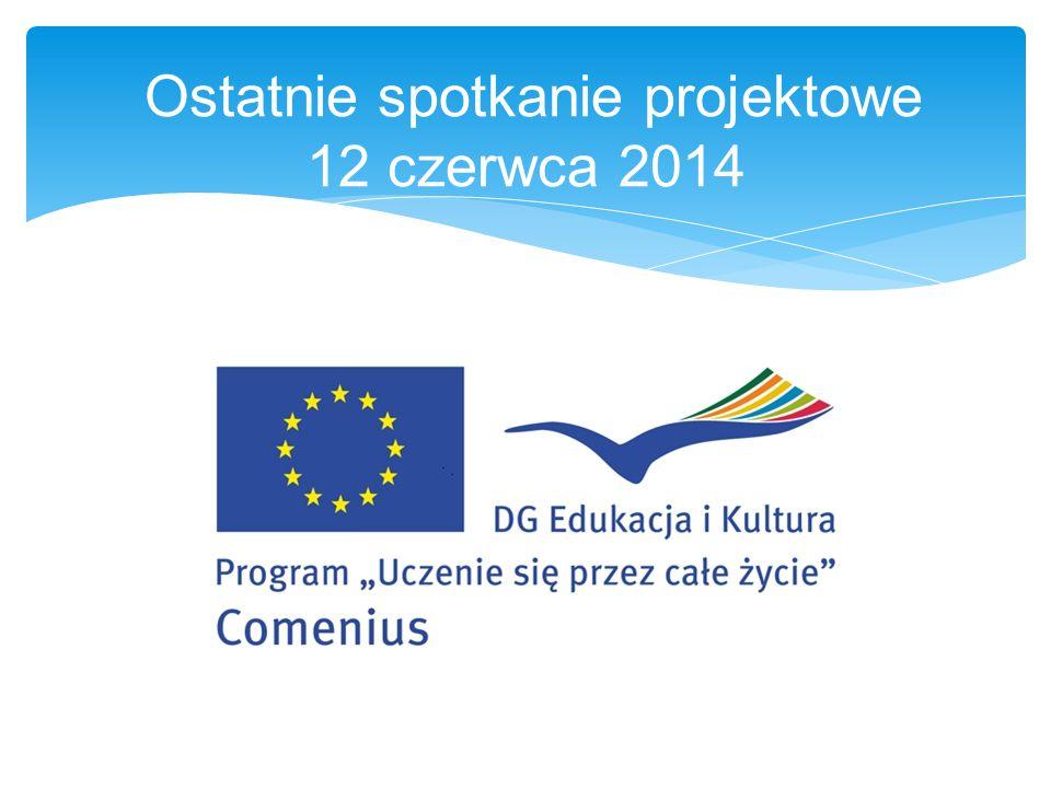 Ostatnie spotkanie projektowe 12 czerwca 2014