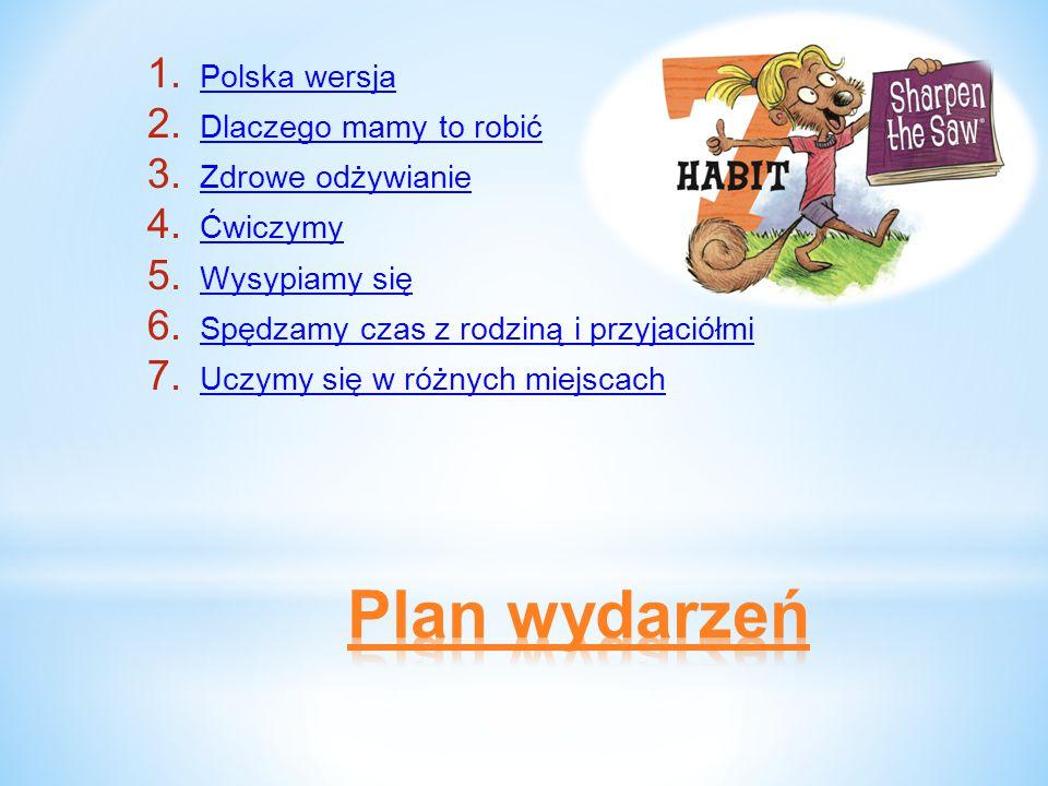 1. Polska wersja 2. Dlaczego mamy to robić 3. Zdrowe odżywianie 4.