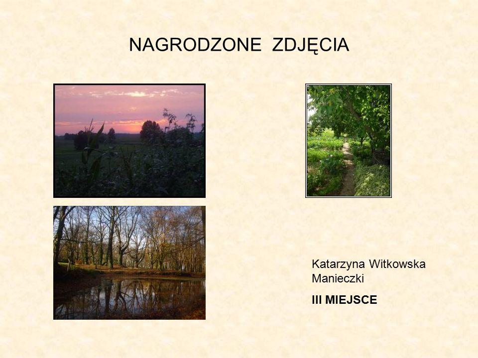 NAGRODZONE ZDJĘCIA Katarzyna Witkowska Manieczki III MIEJSCE