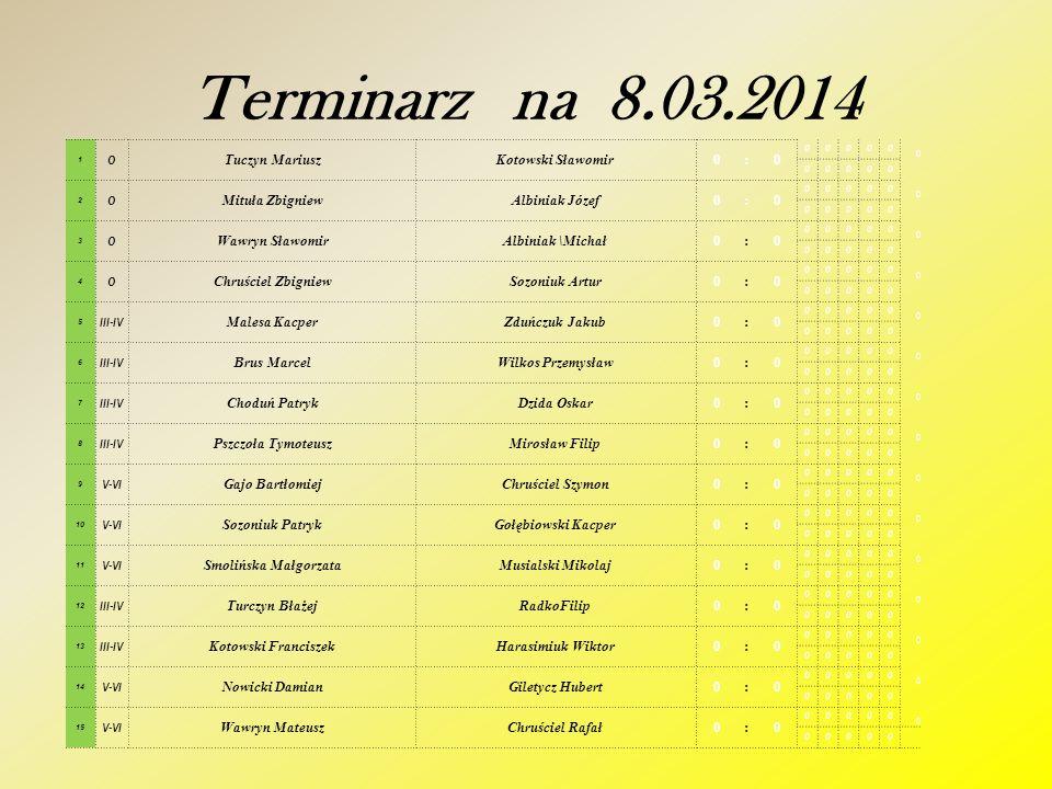 Zapraszamy na kolejne gry w dniu 8.03.2014 - sobota od godz. 12.00