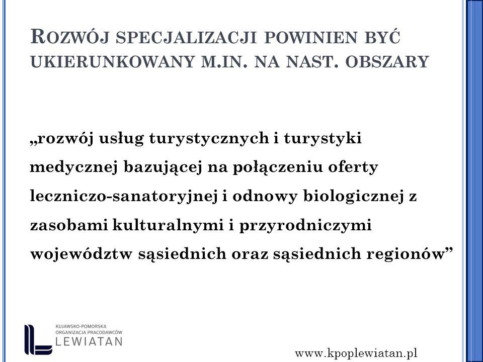 www.kpoplewiatan.pl R OZWÓJ SPECJALIZACJI POWINIEN BYĆ UKIERUNKOWANY M.